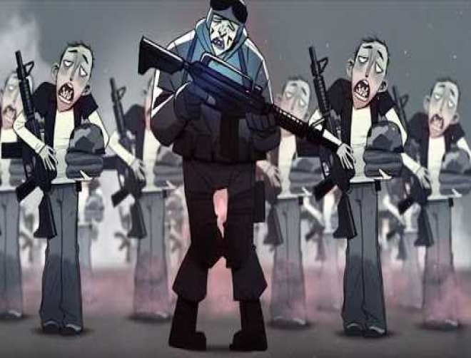 Brave the Cold (Megadeth, Napalm Death) release a sickening sociopolitical animated video for Hallmark of Tyranny.
